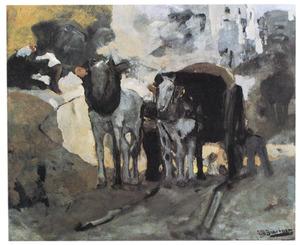 Werkpaarden op Montmartre