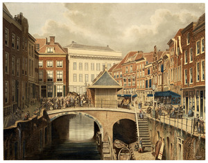 De Oudegracht en de Vismarkt te Utrecht