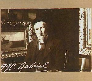 Portret van de schilder Paul Joseph Constantin Gabriël
