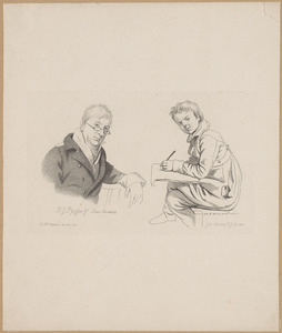 Portret van François Joseph Pfeiffer (1778-1835), rechts een tekenende jongen