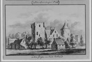 Achterzijde (?) van kasteel Zevenbergen