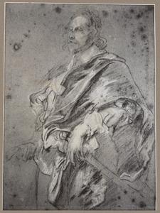 Studie voor het portret van Nicholas Lanier (1588-1666)