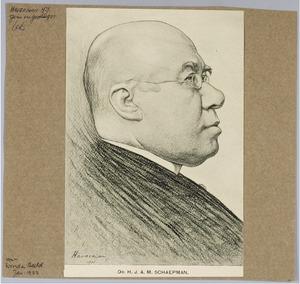Portret van Dr. H.J.A.M. Schaepman