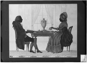 Dubbelportret van Louis Metayer (1728-1799) en Antoinette Bernard (1735-1804)
