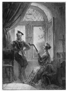 Edelman en vrouw met luit