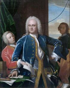 Portret van Jan Albert Sichterman (1692-1764), Jan Albert Sichterman (1733-1750) en een onbekende man