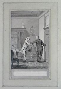 Illustratie bij 'De candidaat' uit de Fabelen en vertelsels van F.C. Gellert