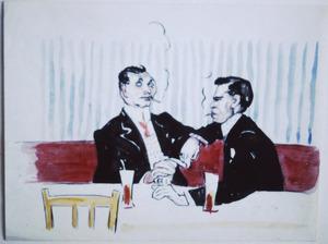Twee mannen in een café