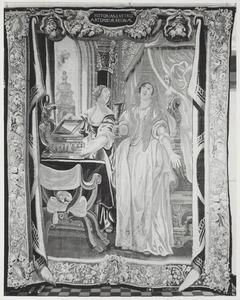 Koningin Artemisia drinkt de as van haar overleden man