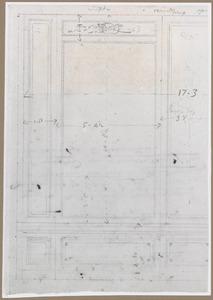 Fragment van een studie voor de zijkamer van Jan Gerard Muller