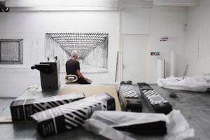 Robbie Cornelissen in zijn atelier