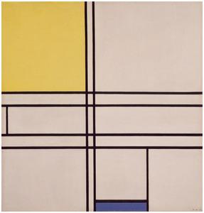 Composition (no. II) bleu-jaune