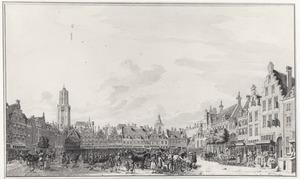 De Neude te Utrecht met militairen op het plein