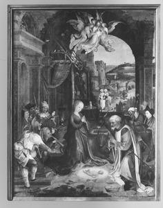 De geboorte van Christus met de aanbidding van de herders