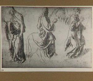 Staande Christus, Christus op de ezel en de engel uit de Annunciatie