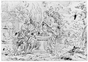 Christus en de Samaritaanse vrouw bij de waterput (Johannes 4:1-30)