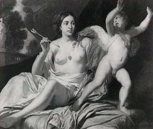 Venus verwondt Cupido met zijn eigen pijl