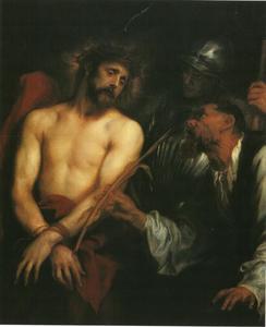 De bespotting van Christus na de doornenkroning
