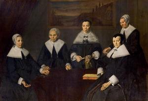 Groepsportret van de regentessen van het Oude Mannenhuis, Haarlem, 1664
