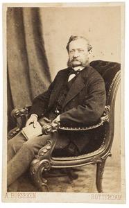 Portret van Johan Wilhelm Hein (1804-1880)