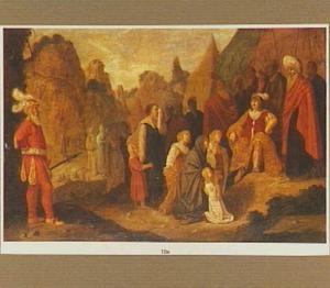 Alexander de Grote met de vrouwen van Darius