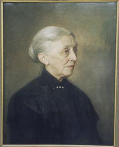 Portret van mevrouw J.I. Sterken-Halbertsma (1837-1911)
