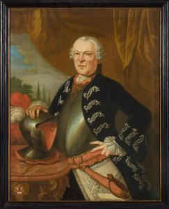 Portret van Alexander Walraad Diederik van Hugenpoth (1695-1780)