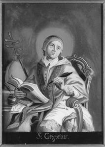 De H. Gregorius als kerkvader in zijn studeervertrek
