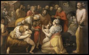 'Laat de kinderen tot mij komen': Jezus zegent de kinderen  (Matteüs 19:13-15; Marcus 10:13-16; Lucas 18:15-17)