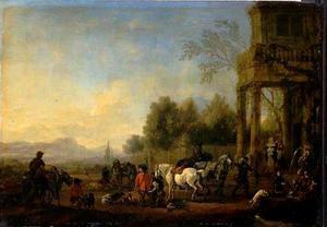 Terugkeer van de jacht (met de Bacchus-fontein)
