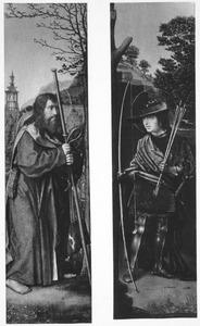 H. Jacobus (linkerluik); H. Sebastiaan (rechterluik)