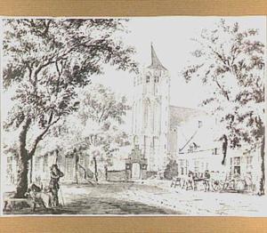 De hervormde kerk te Lienden, gezien vanuit het zuidwesten