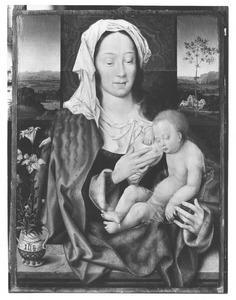 Maria met het kind slapend tegen haar borst