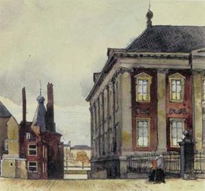Gezicht op het Mauritshuis Den Haag