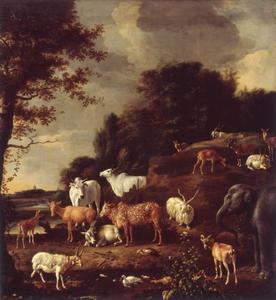 Landschap met exotische dieren