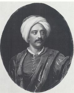 Portret van Friedrich Aly, Turkse kamerheer