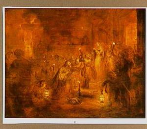 Judith toont het hoofd van Holofernes aan het volk (Judith 8-16)