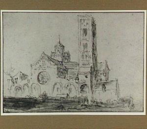 Utrecht, de Mariakerk vanuit het zuiden gezien