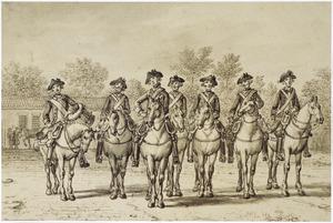 Ruiterwacht van een regiment dragonders