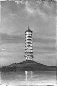 Reis van Suez naar Nagasaki via Oost-Indië: Pagode bij Canton