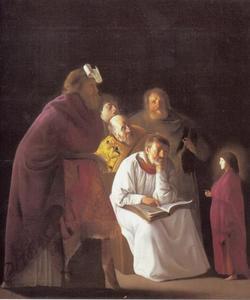 De twaalfjarige Jezus in de tempel tussen de schriftgeleerden