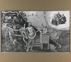 Christelijke allegorie met het laatste oordeel