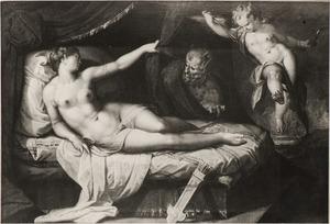 De als sater vermomde Jupiter bespiedt Antiope