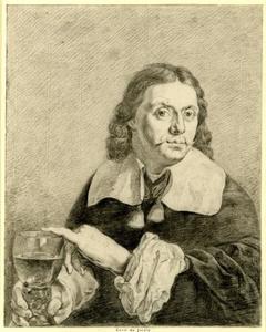 Portret van een man genaamd Karel Dujardin (1626-1678)