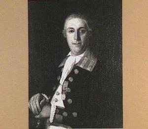 Portret van een officier (marinier?) met Doggersbankmedaille