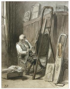 Zacharias Heynsz in zijn atelier