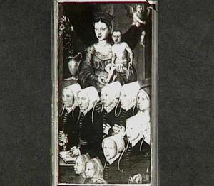 Maria met kind met Styntgen Dirck Claessens (?-?) en haar dochters