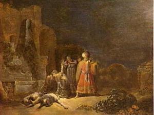 De ontdekking van de lichamen van Pyramus en Thisbe