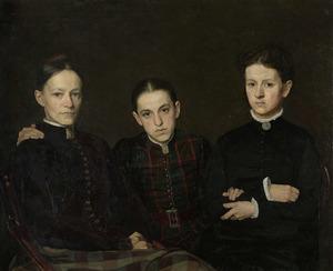 Portret van Cornelia, Clara en Johanna, de drie zusters van de kunstenaar