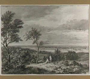 Panoramisch landschap met figuren
